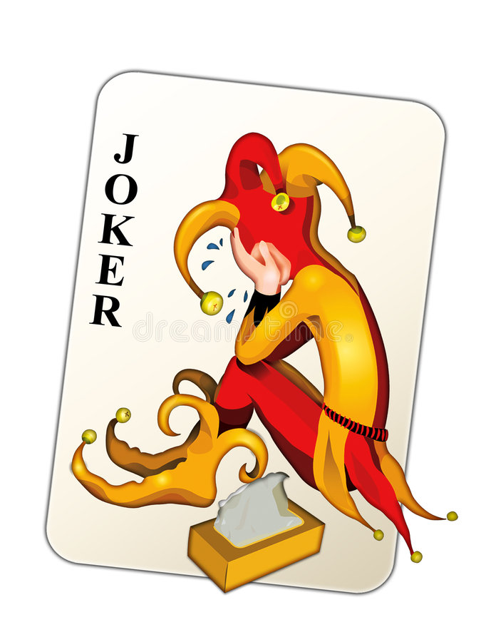 De kaart van de joker stock illustratie