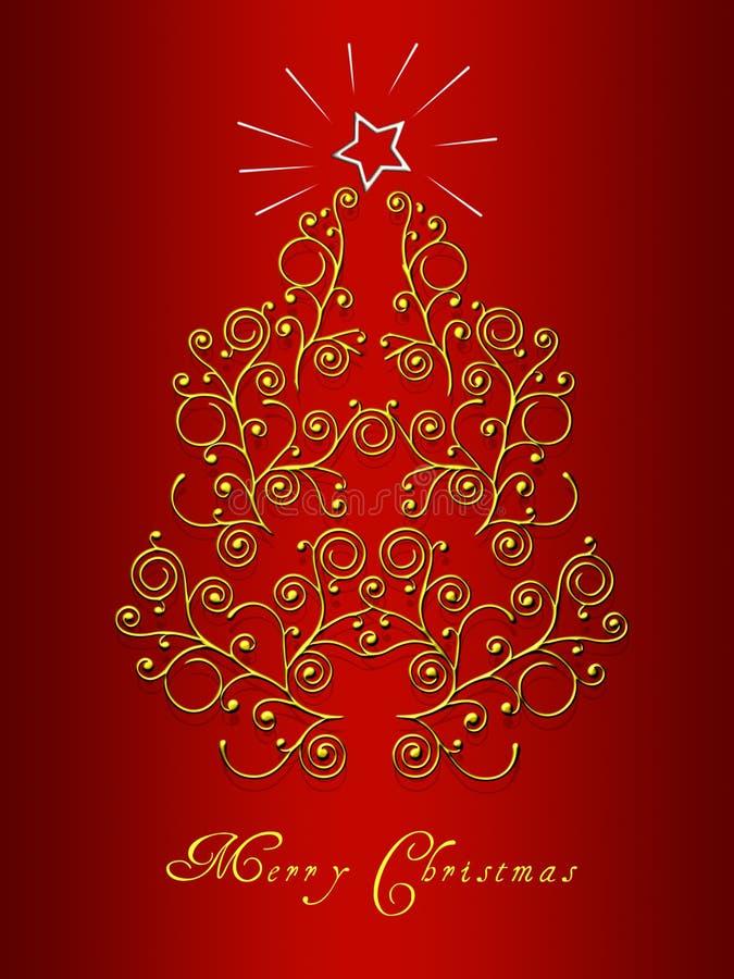 De kaart van de kerstboom royalty-vrije stock afbeeldingen