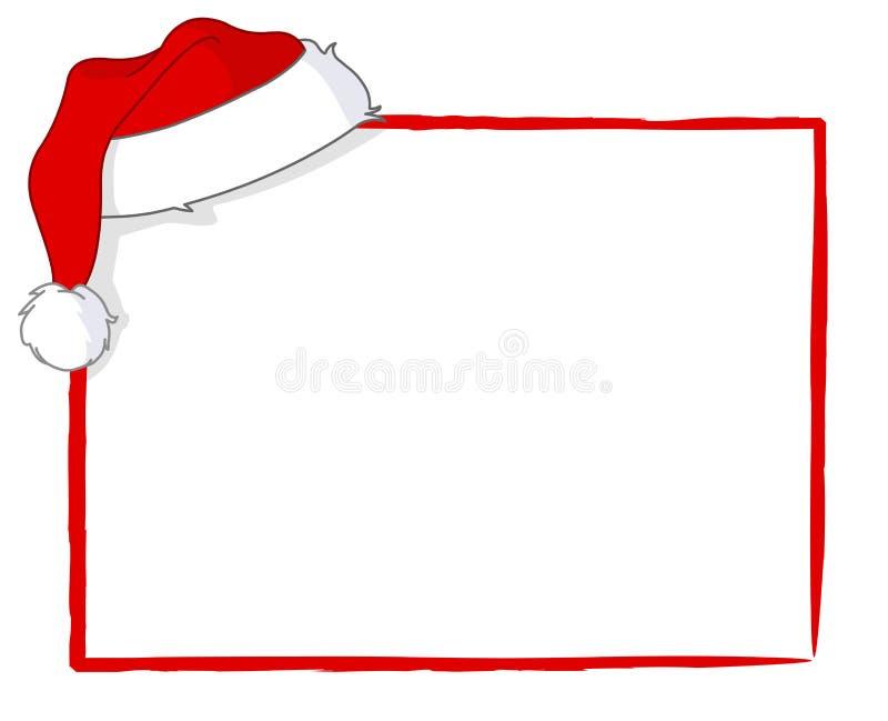 De kaart van de kerstman stock illustratie