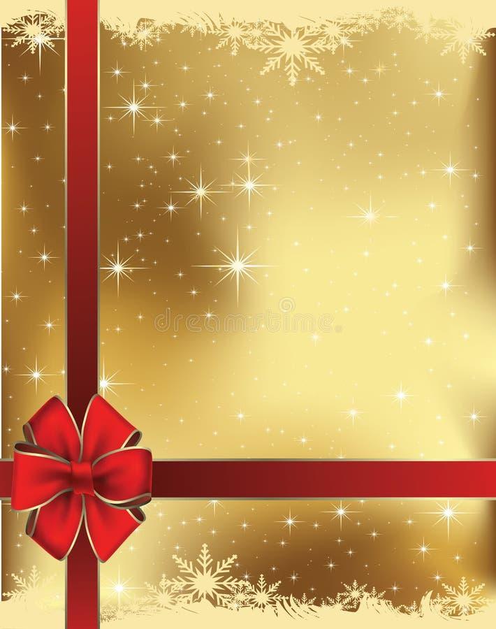 De kaart van de Kerstmisgift royalty-vrije illustratie
