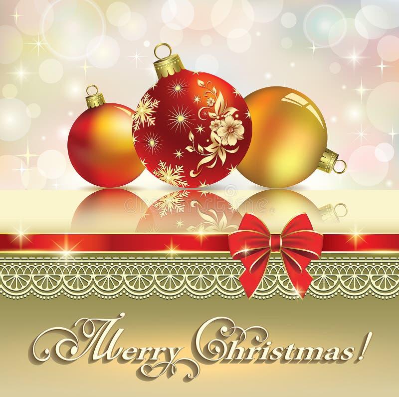 De Kaart van de Kerstmisgroet 2014 royalty-vrije illustratie