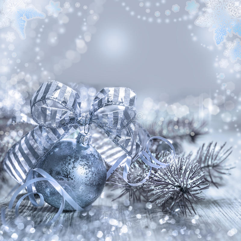 De kaart van de Kerstmisgroet met speelgoed en decoratie, tekstruimte stock fotografie