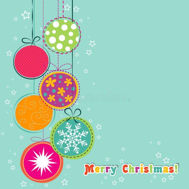 De kaart van de Kerstmisgroet van het malplaatje, vector vector illustratie