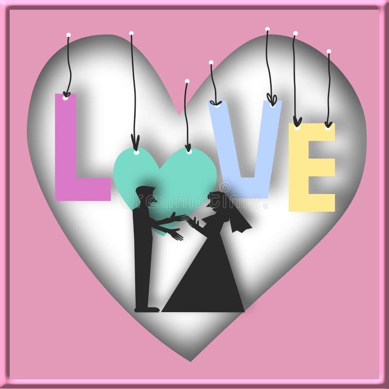 De kaart van de liefde vector illustratie