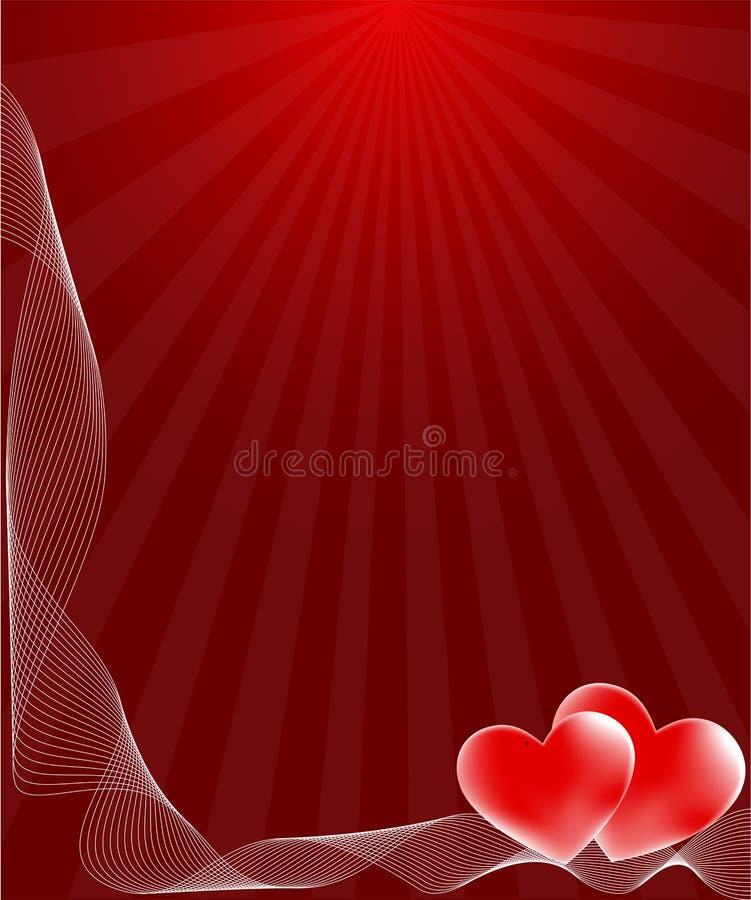 De kaart van de liefde stock illustratie
