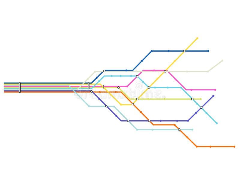 De kaart van de metro vector illustratie
