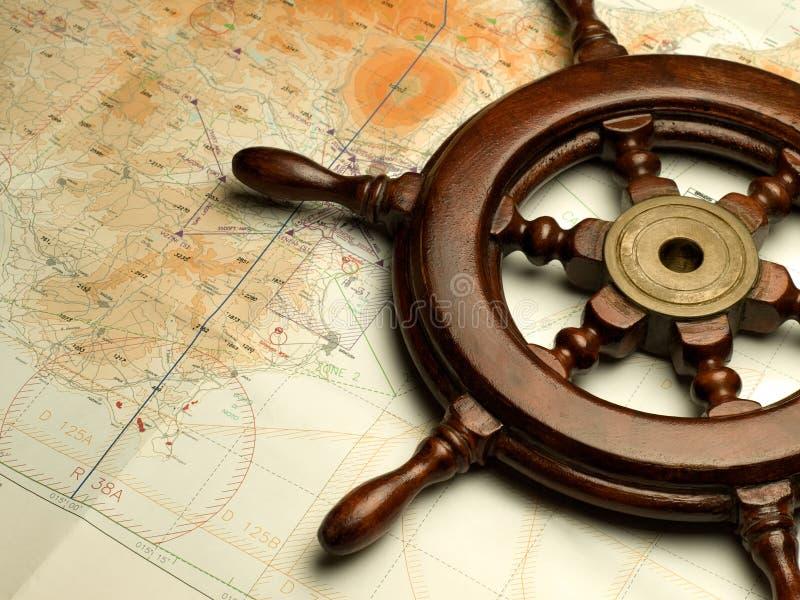 De kaart van de navigatie