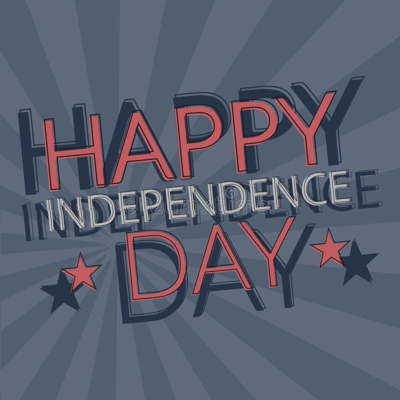 De kaart van de onafhankelijkheidsdag stock illustratie