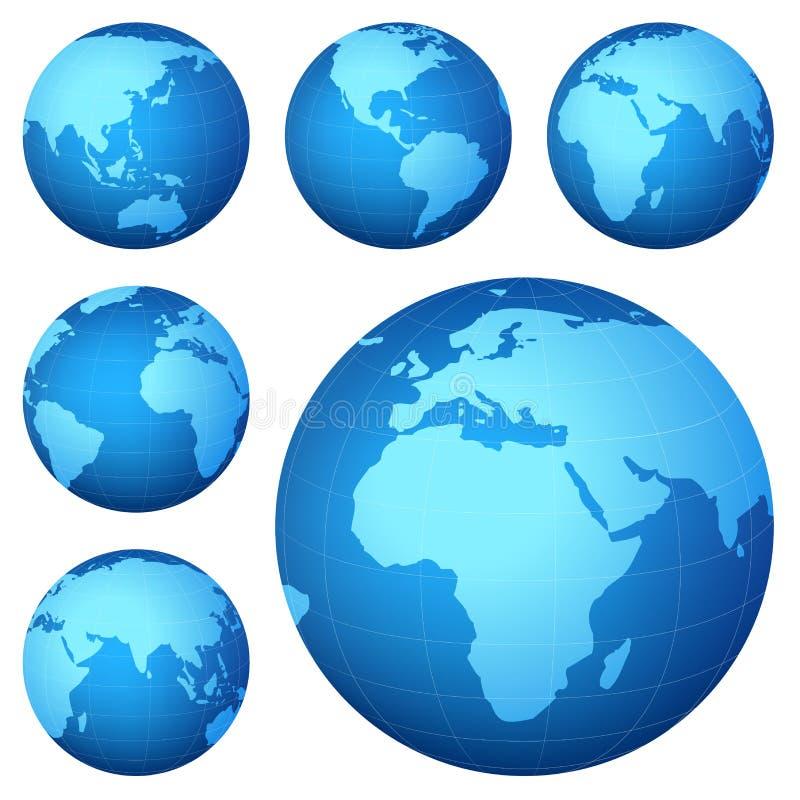 De kaart van de planeet stock illustratie