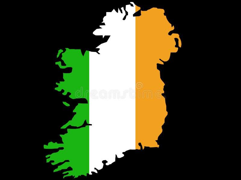 De kaart van de Republiek Ierland vector illustratie