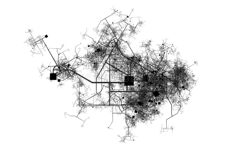 De Kaart van de stad vector illustratie