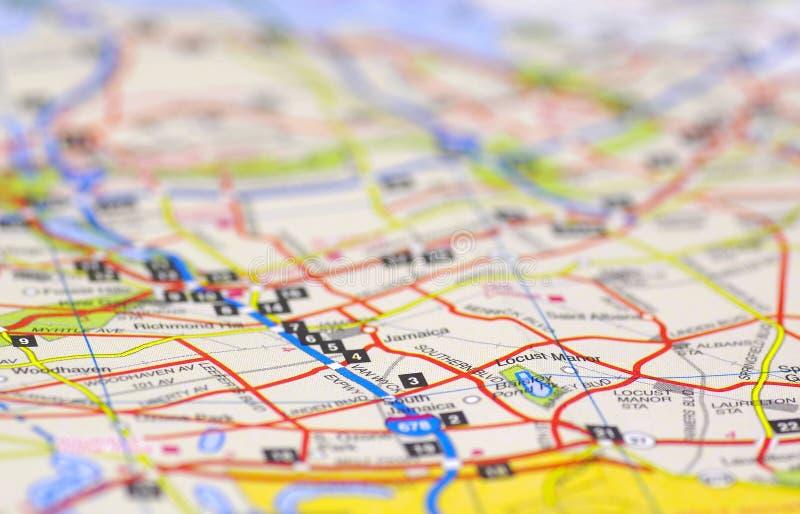 De Kaart van de straat royalty-vrije stock afbeelding