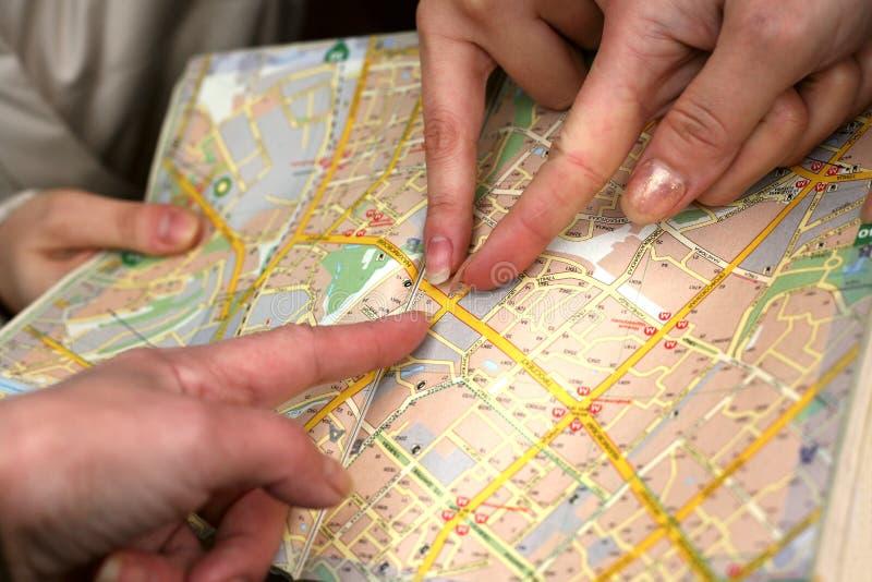 De Kaart van de straat stock afbeeldingen