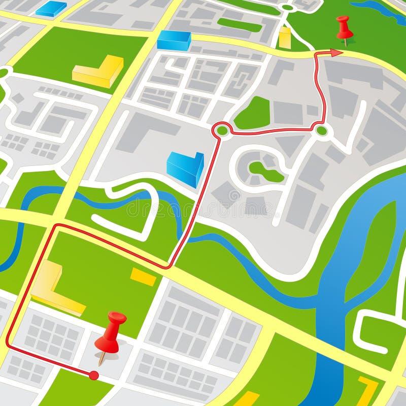 De Kaart van de straat royalty-vrije illustratie