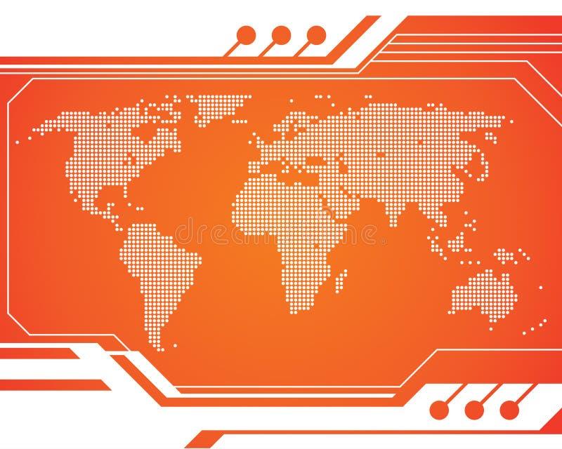 De Kaart van de Technologie van de wereld royalty-vrije illustratie