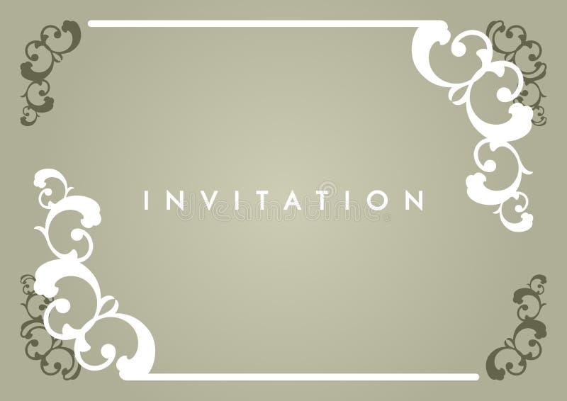 De Kaart van de uitnodiging royalty-vrije illustratie