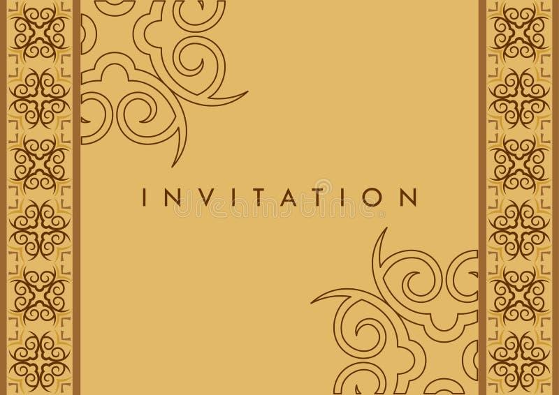 De Kaart van de uitnodiging stock illustratie