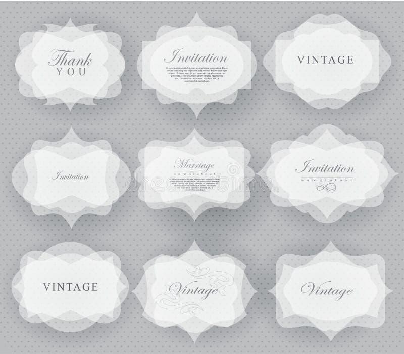 De kaart van de uitnodiging in retro stijl vector illustratie