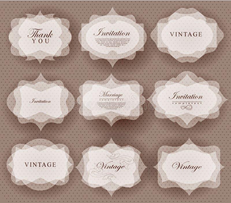 De kaart van de uitnodiging in retro stijl stock illustratie