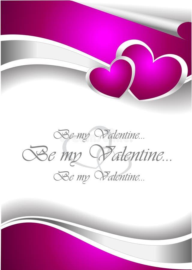 De Kaart van de Uitnodiging van de valentijnskaart vector illustratie