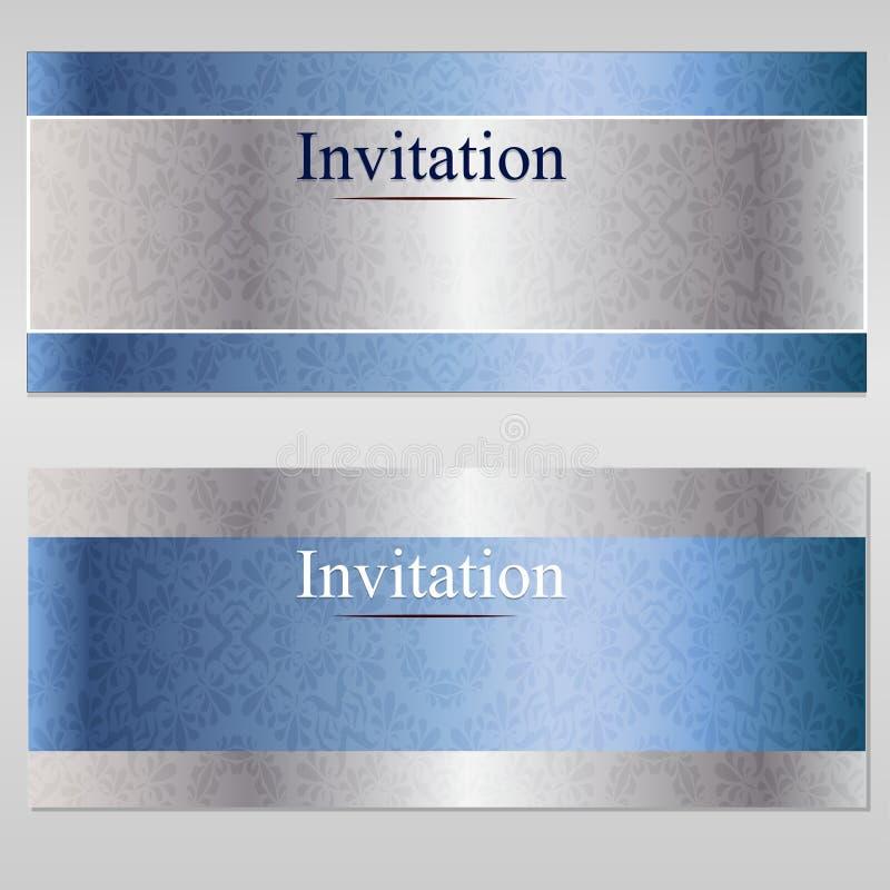 De kaart van de uitnodigingsluxe royalty-vrije stock afbeeldingen