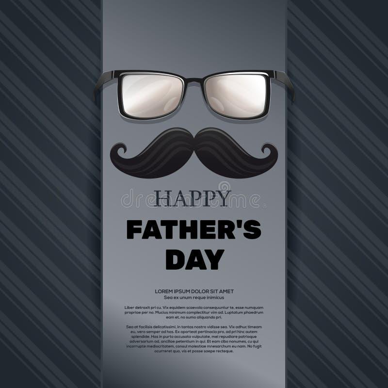De kaart van de vaders Dag royalty-vrije illustratie