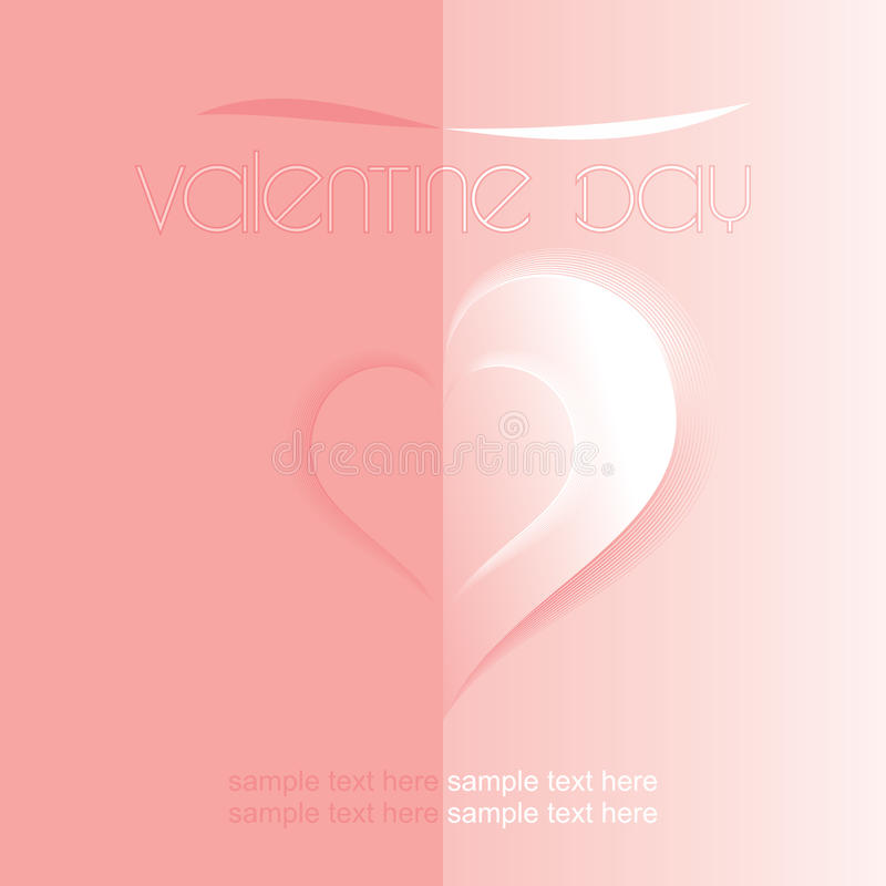De kaart van de valentijnskaart royalty-vrije illustratie