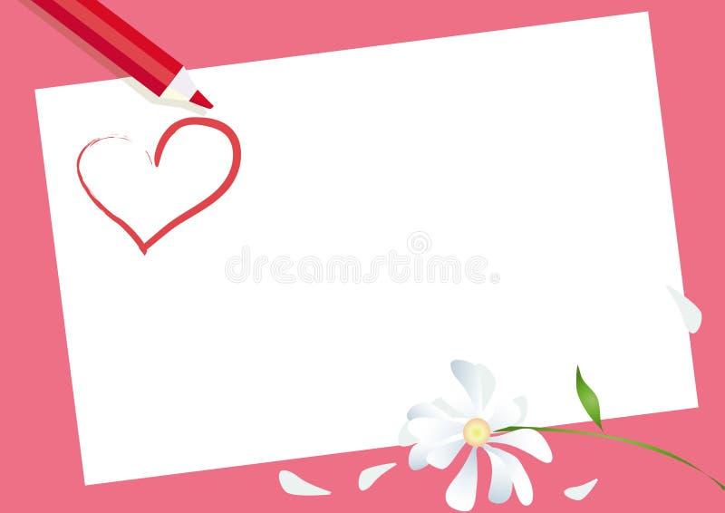 De Kaart van de valentijnskaart stock illustratie