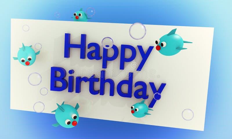 Download De Kaart Van De Verjaardag Voor Jonge Geitjes Stock Illustratie - Afbeelding: 23184912