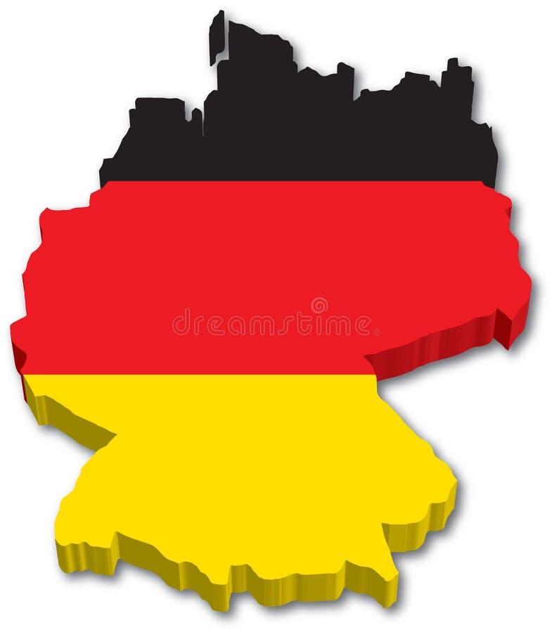 De Kaart van de vlag van Duitsland royalty-vrije illustratie
