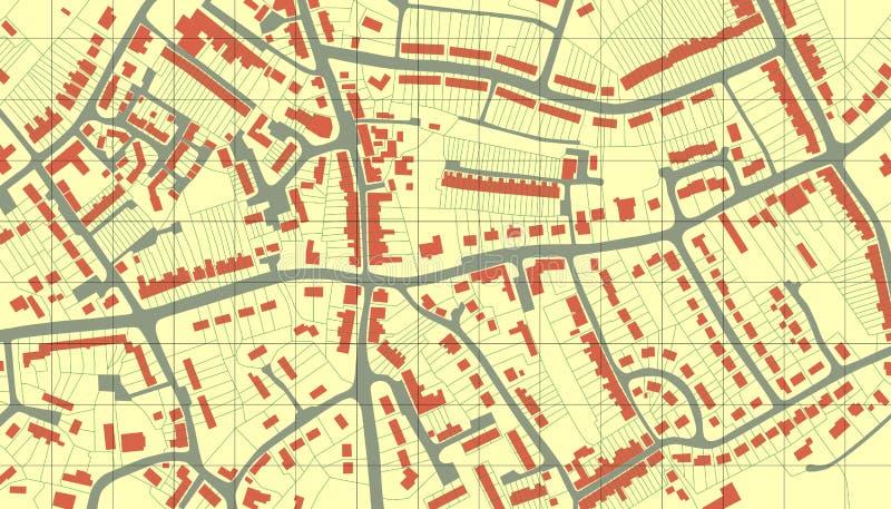 De kaart van de voorstad stock illustratie
