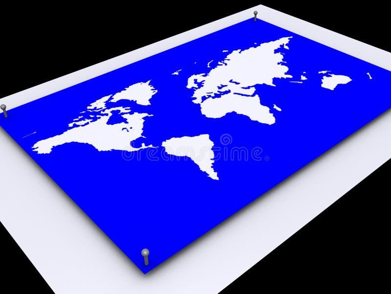 De Kaart van de wereld stock illustratie