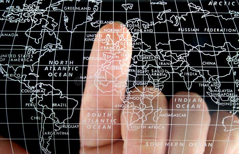 De Kaart van de wereld stock afbeeldingen