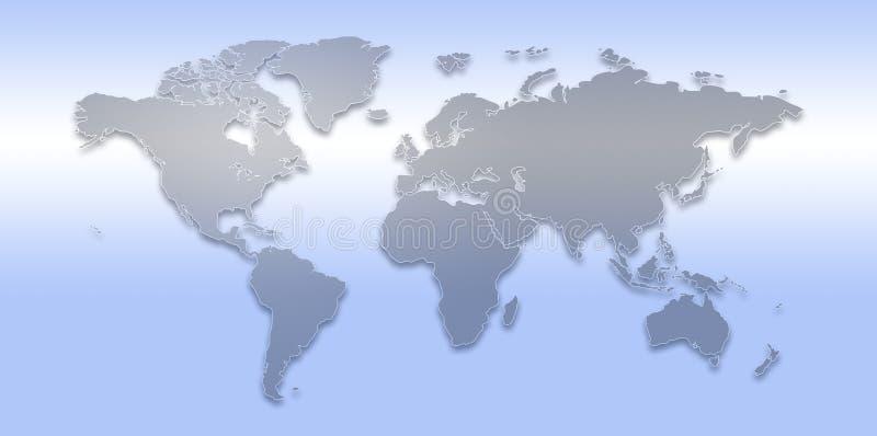 De kaart van de wereld. royalty-vrije illustratie