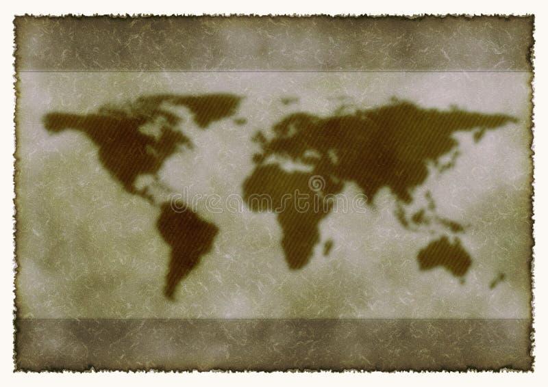 Wereldkaart Stock Foto