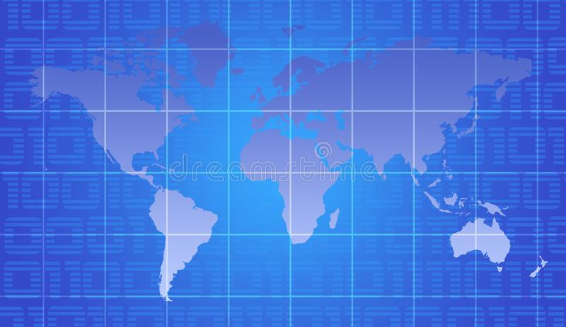 Wereldkaart royalty-vrije stock afbeelding