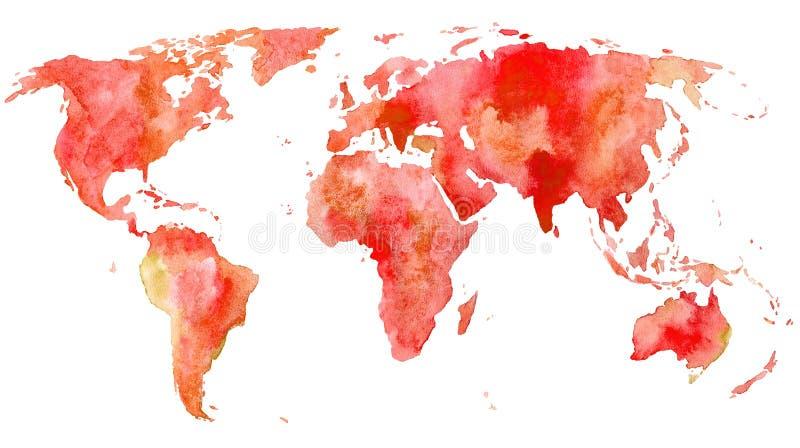 De kaart van de wereld Aarde stock illustratie