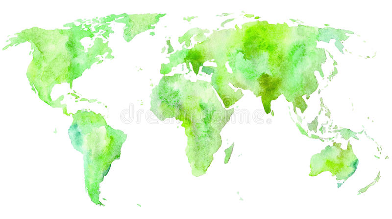 De kaart van de wereld Aarde royalty-vrije illustratie