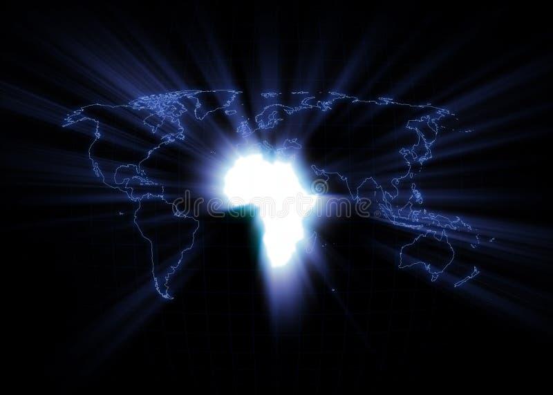 De Kaart van de wereld - Afrika stock afbeeldingen