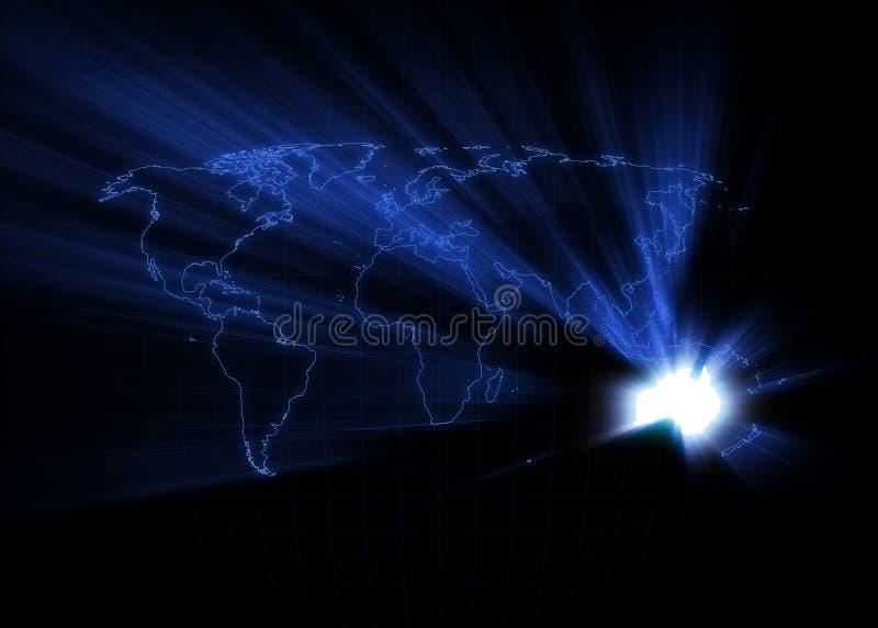 De Kaart van de wereld - Australië royalty-vrije illustratie