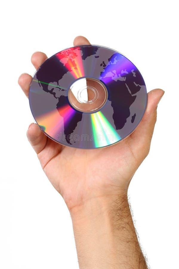 De kaart van de wereld en DVD stock foto's
