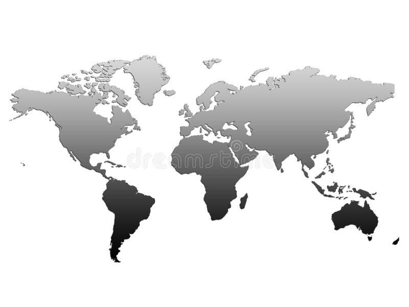 De Kaart van de Wereld van de bol stock afbeeldingen