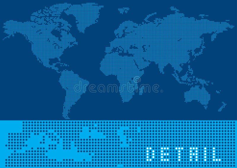 De Kaart van de Wereld van het pixel royalty-vrije illustratie