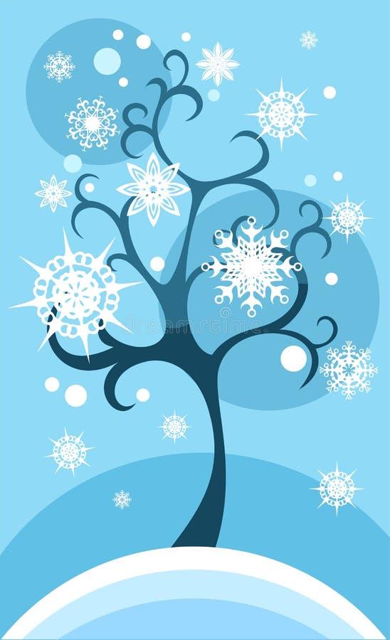 De kaart van de winter stock illustratie