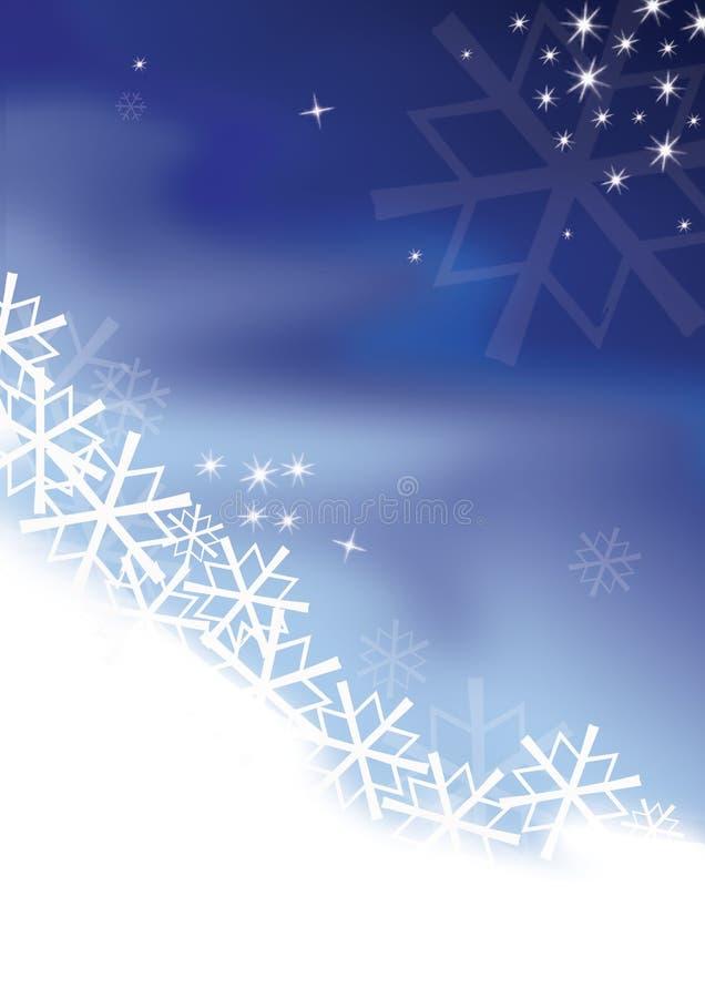 De kaart van de winter royalty-vrije stock foto's