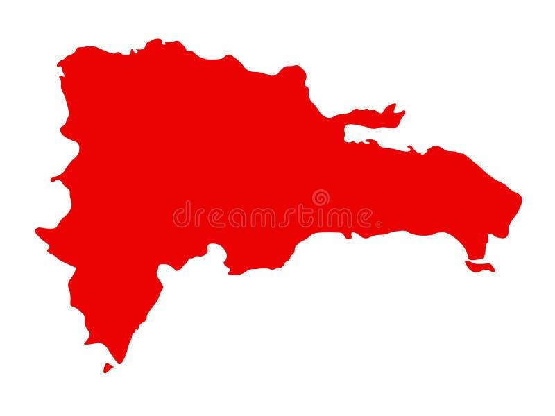 De kaart van de Dominicaanse Republiek - eilandland in de Grotere archipel van Antillen van het Cara?bische gebied stock illustratie