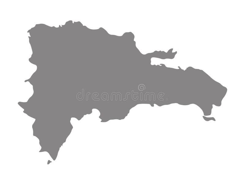 De kaart van de Dominicaanse Republiek - eilandland in de Grotere archipel van Antillen van het Cara?bische gebied vector illustratie
