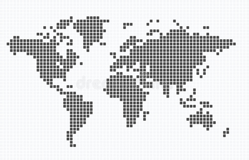 De kaart van Doted van de wereld royalty-vrije illustratie
