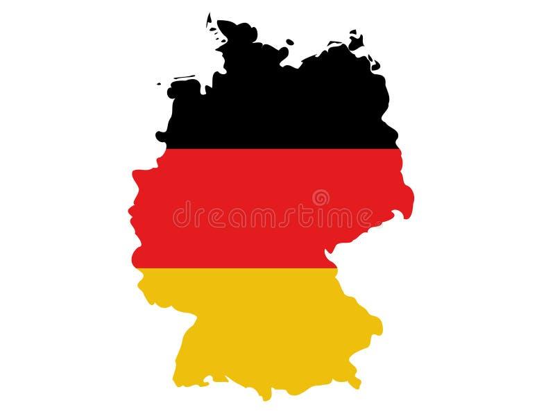 De kaart van Duitsland vector illustratie