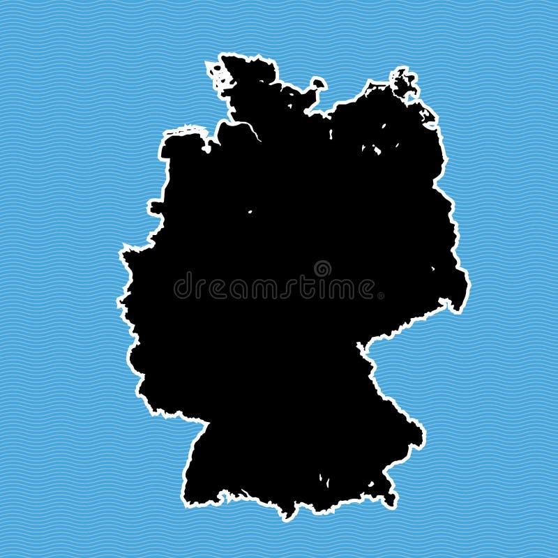 De kaart van Duitsland als eiland stock illustratie